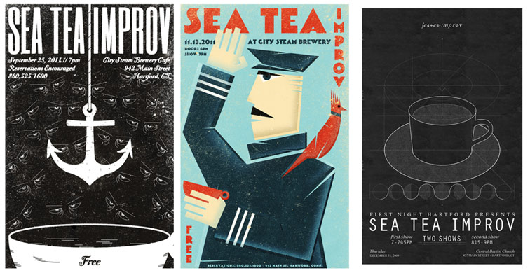 Sea Tea Improv posters