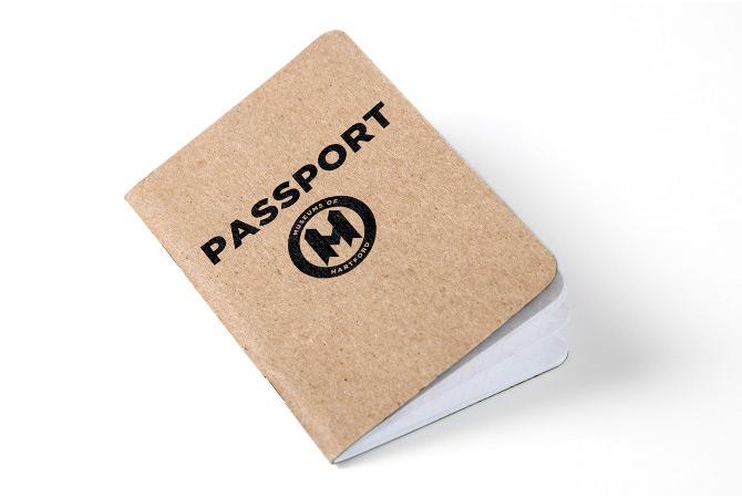 Hartford Museum Passport cover.