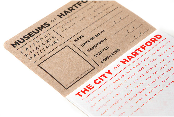 Hartford Museum Passport inside cover.