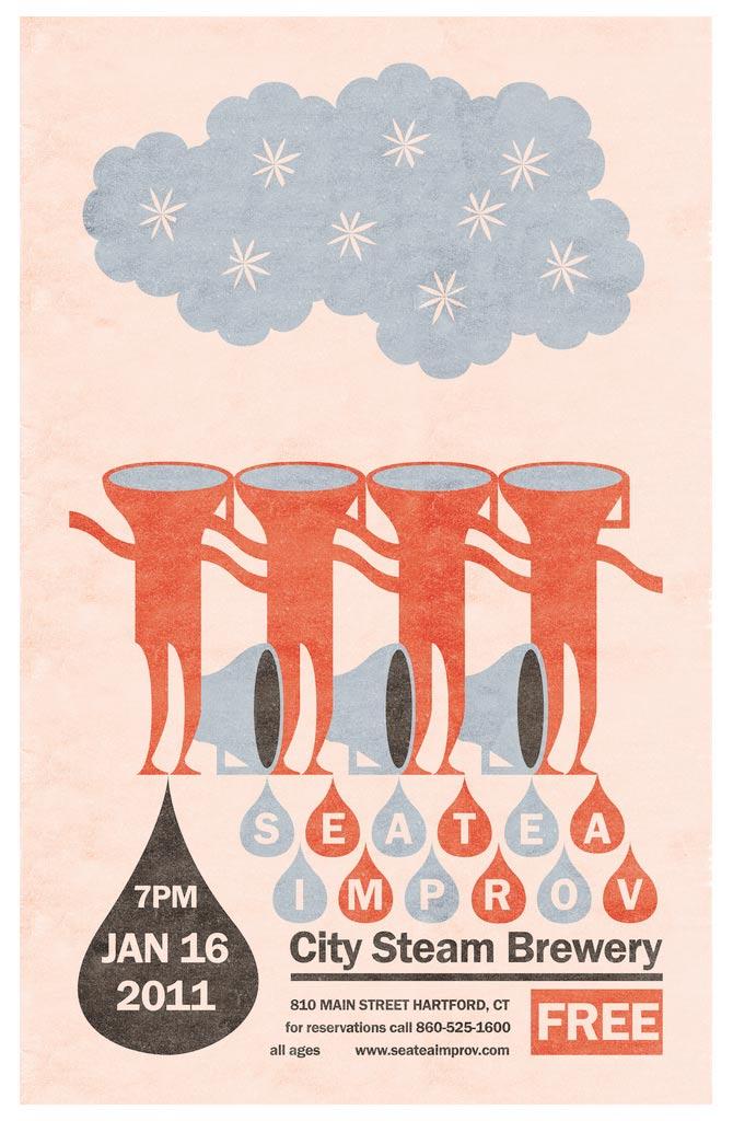 Sea Tea Improv Drip Drop poster.