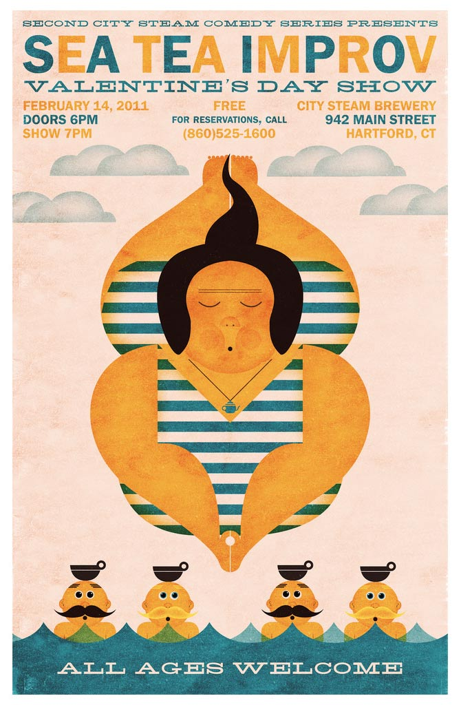 Sea Tea Improv Deep Dive poster.