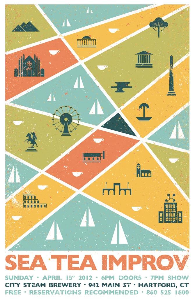 Sea Tea Improv European poster.