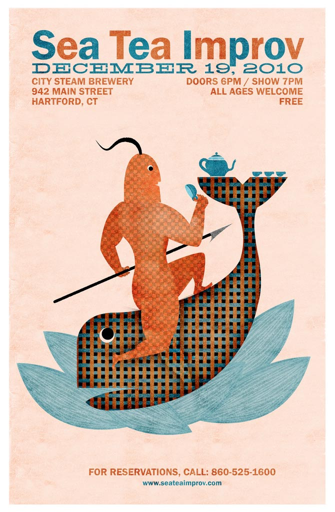 Sea Tea Improv Moby Dick poster.