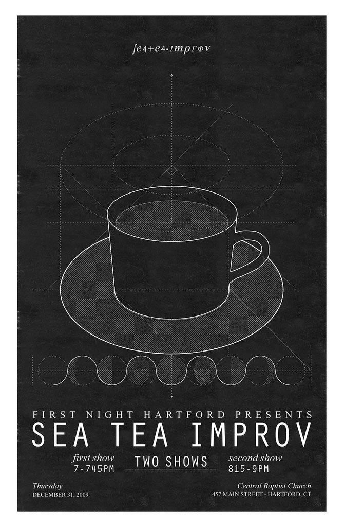 Sea Tea Improv Lunar Cycle poster.
