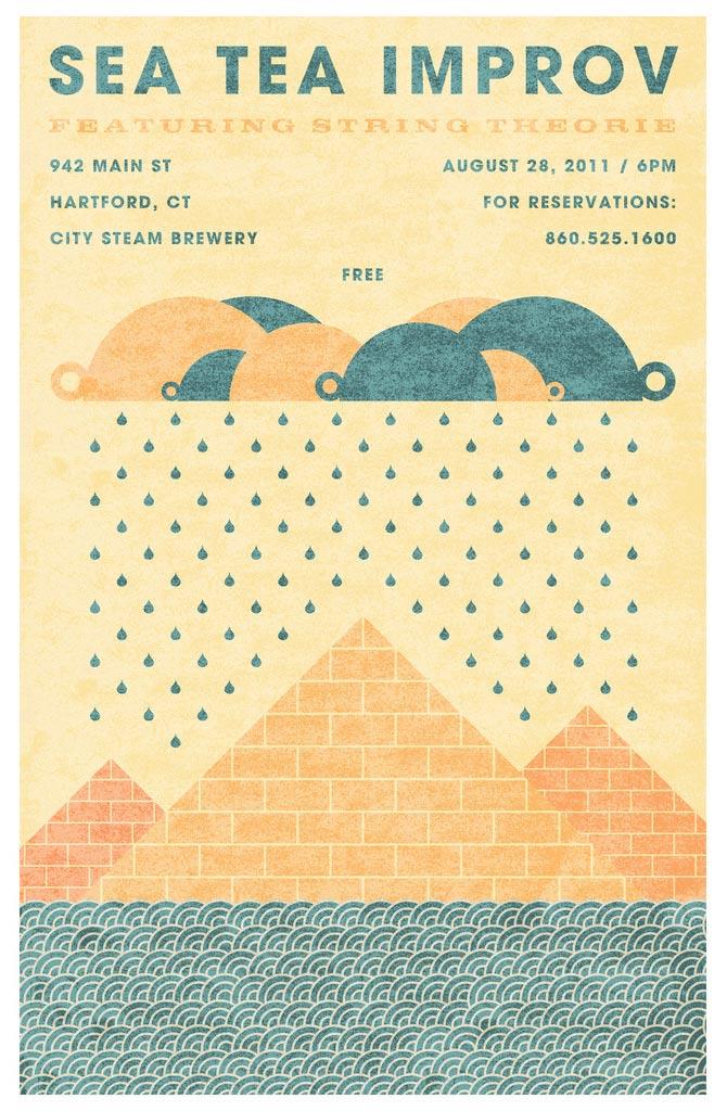 Sea Tea Improv Egyptian poster.