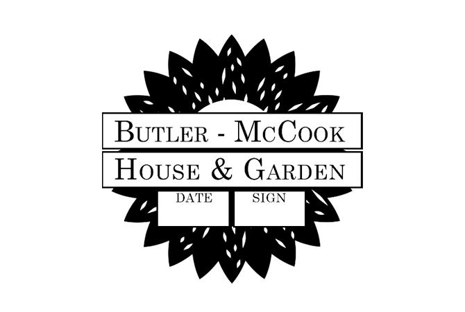 Butler McCook House & Garden passport stamp.