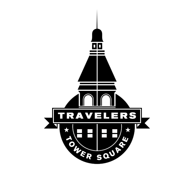 Travelers Tower Square stamp.