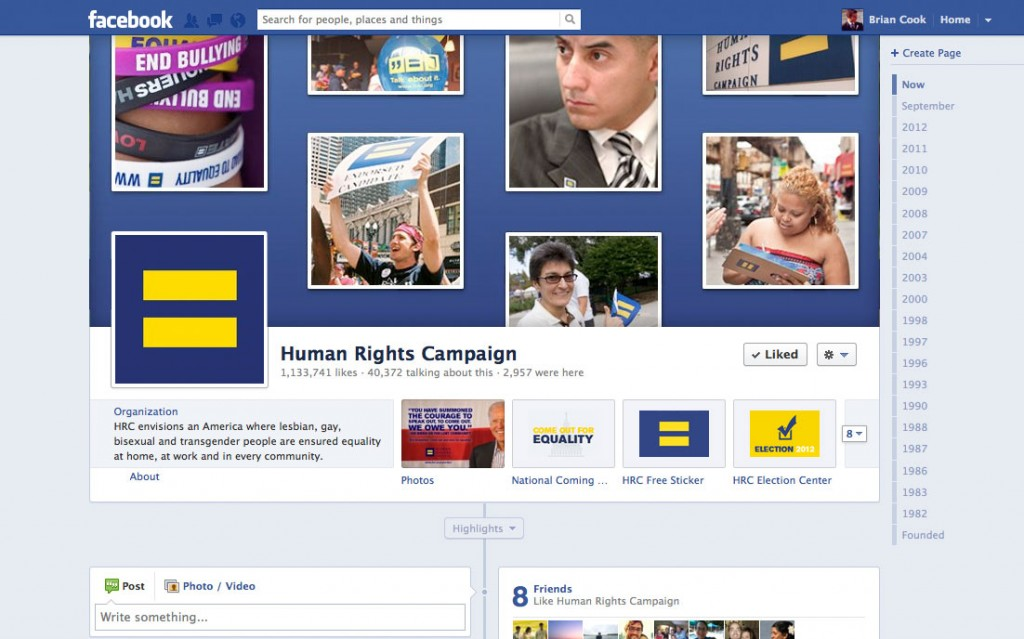 Designed the cover image for HRC's Facebook page.