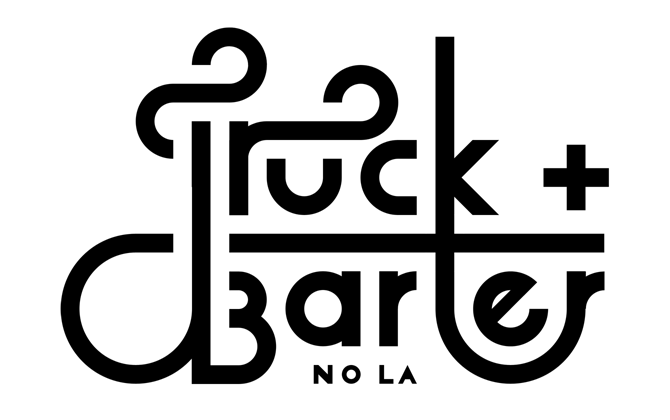 Truck & Barter custom wordmark.